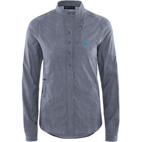 Klättermusen W's Lofn Shirt Storm Blue Melange